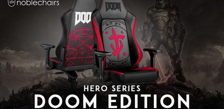 Noblechairs presenta la nueva Hero Gaming Doom Edition